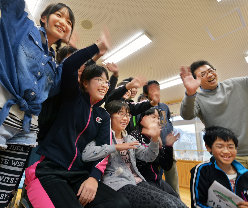 最高の笑顔で、「へばなぁ(さようならぁ)」と、手を振りながら大合唱。楽しかったぁ!!!