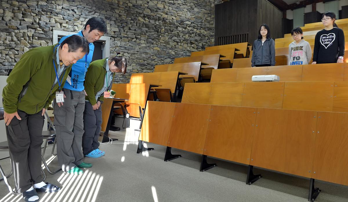 屋久島環境文化研修センターのスタッフが出迎えて下さった