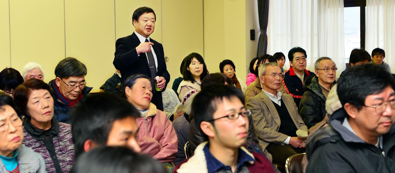 子どもたちに労いの言葉を下さる、いわさき小学校の柳澤弘幸・校長先生