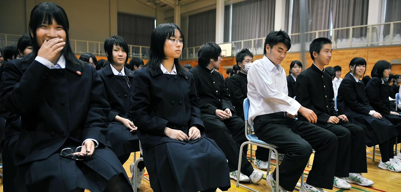 深浦校舎の生徒たち