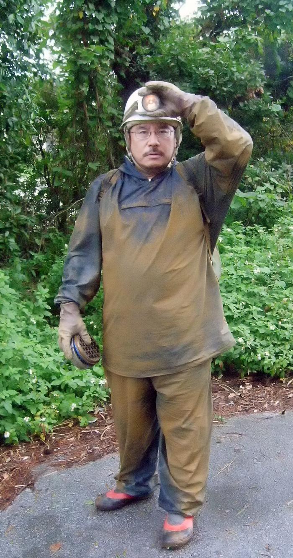 不審な汚れ男は夫でした。雨に濡れたニービでコテコテに。今日の仕事は辛かった‥
