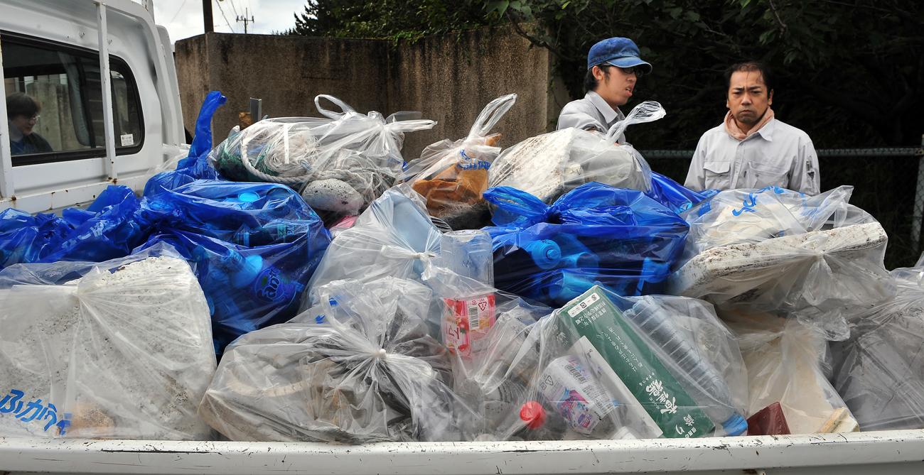 天候が悪く、短い時間しか出来なかったが、結構な量のゴミが集まった