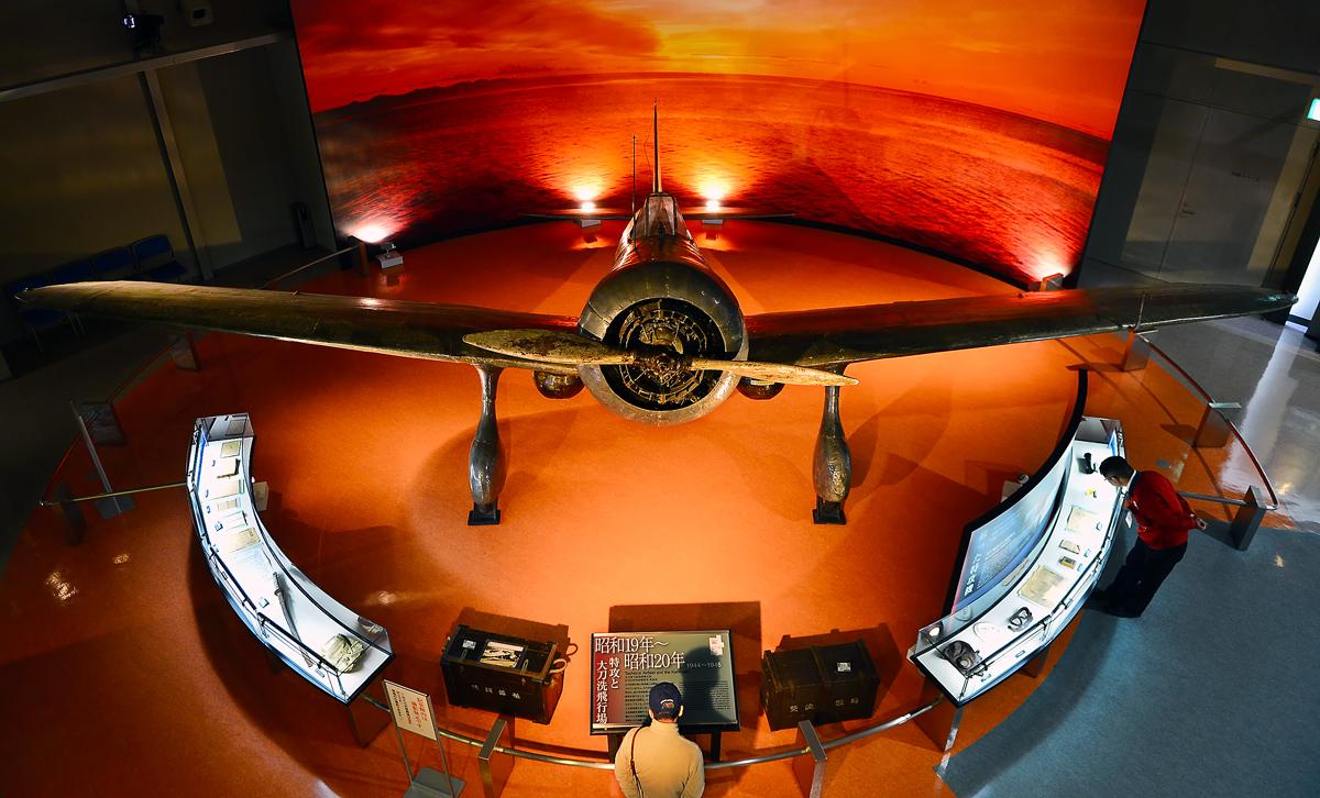 展示されている旧日本陸軍の九七式戦闘機