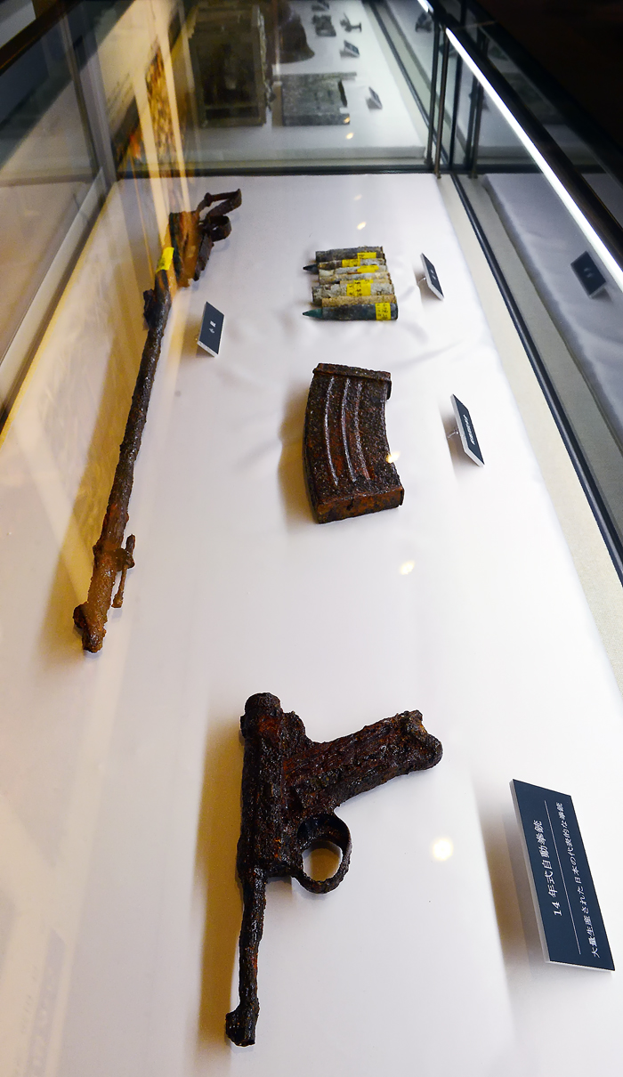 旧日本軍が所持していた拳銃や小銃