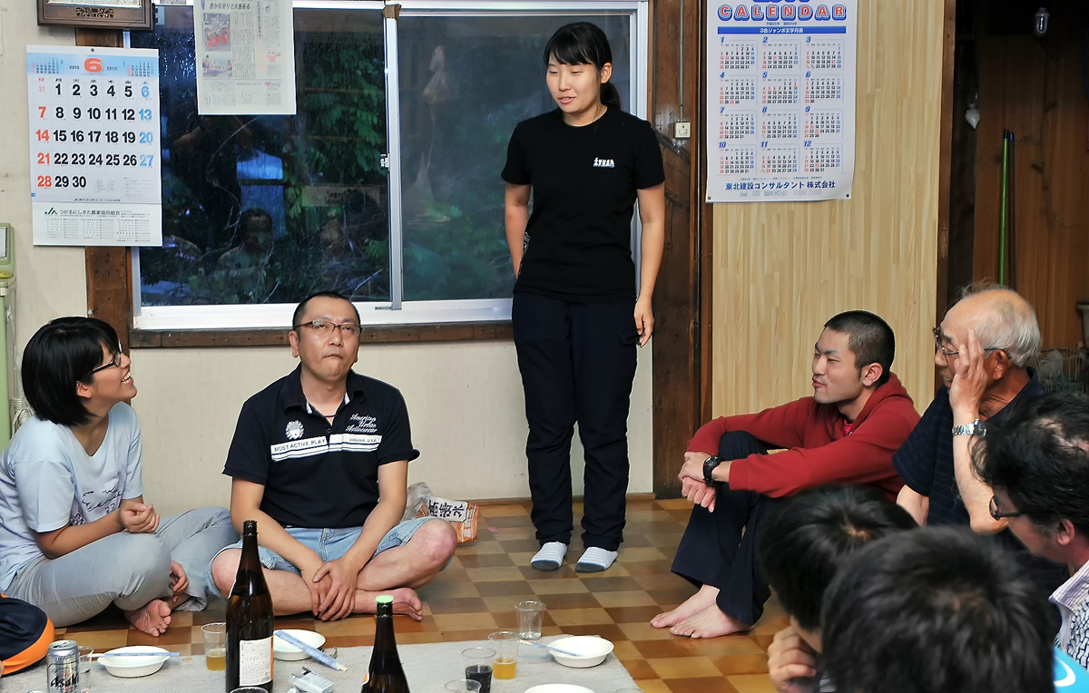 秋田出身の女子学生が、帰省の際に足を延ばし、参加してくれた
